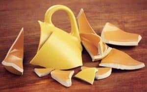Broken teacup