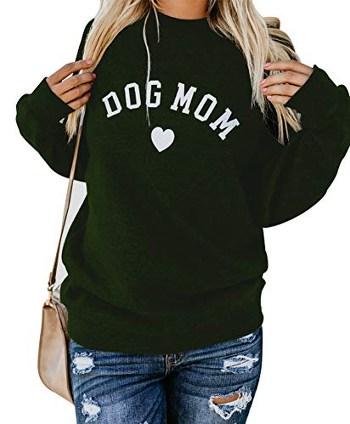 Heymiss Womens Dog Mom Sweatshirt